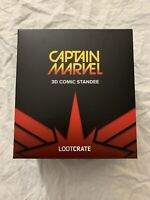Captain Marvel 3D Comic Standee Loot Crate Exclusive March 2019 NEW