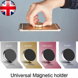 Universal Car Magnetic Mobile Phone Holder Dashboard Mount + Extra Metal Plate