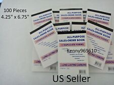 Lot of 100 Sales Order Book Receipt 50 Duplicate Forms Carbon NEW US Seller