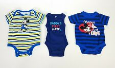 (LOT OF 3) One Piece Sz 0 - 3 Months Jumpsuits Blue, Mickey Mouse & First Mate