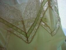 New listing Vtg Hollywood Vassarette Fill Slip 32 Average Crepelon Munsingwear Green