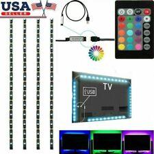 1-4Pcs USB Powered RGB 5050 LED Strip Lighting for TV Computer Background Light