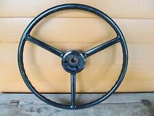 "NOS 1940's 50 MoPar Chrysler Dodge Plymouth Ford Chevy? 18"" Steering Wheel BLACK"