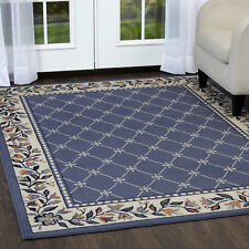 "ORIENTAL BLUE AREA RUG RUNNER 2 X 8 PERSIAN CARPET 15 - ACTUAL 1' 10"" x 7' 3"""