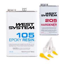 West System 105 B Epoxy Resin With 205 B Fast Epoxy Hardener And Mini Pump Set