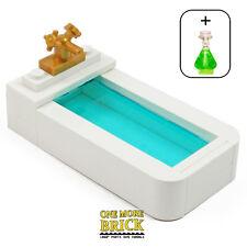 LEGO Bath - Bathroom Bathtub + flask - Minifig furniture for toilet / bathroom