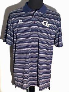 Georgia Tech Yellow Jackets NCAA ACC College Team Emboridered Large Polo Shirt