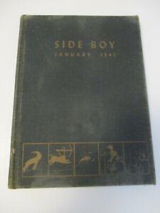 Side Boy October 1942 U.S. Naval Reserve Midshipmen's School Yearbook Hardcover