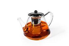 Glas Teekanne mit Edelstahlsieb 1200ml Teebereiter Glasteekanne Orig. MAOCI