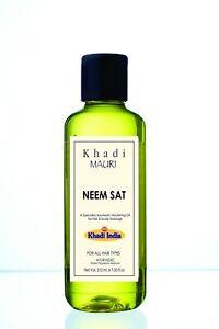 Khadi Mauri Herbal Neem Shampoo - Anti Hairfall and Anti Dandruff - 210 ml- U.S