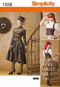 Simplicity1558 - Steampunk Ladies Attire , Misses 14-22