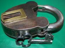 "Large (Near 6"" high) ex Canadian Prison Padlock, c. 1840, with Key."