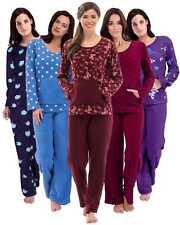 Womens Warm Fleece Winter PJ Pyjama Set Night Wear PJ's Pyjamas Sets Ladies New