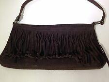 Old Navy Brown Hippie Fringe Cow Leather Suede Boho Shoulder Bag 11 X 7 X 2