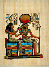 **Rare** Genuine Hand Painted Authentic Egyptian Papyrus (Ra, Nefertari, Horus)