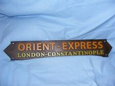 Orient Express Railway Train Sign Cast Iron Man Cave Garage Wall Fence Sign 57cm