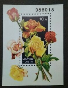 Hungary Magyar Posta Rose Flowers Miniature Limited Issue Serial No.088018 - MNH