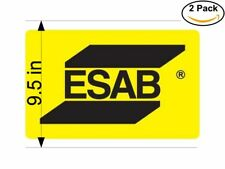 esab logo 2 Stickers 9.5 Inches Sticker Decal