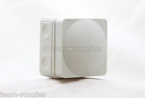 Wiska Combi GREY 108 Outdoor Electric Junction Box Weatherproof IP66 76x76x51
