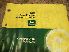 John Deere Operator'S Manual 2810 Semi-Integral Moldboard Plow