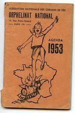 FEDERATION NATIONALE DES CHEMINS DE FERS ORPHELINAT PARIS AGENDA 1953
