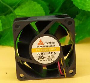 Y.S.TECH FD486025EB 6025 6CM 48V 0.11A 3-pin double ball cooling fan