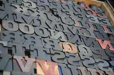 Antique Rare Alphabet 101pcs 268 Wood Printing Blocks Letterpress Wooden Type