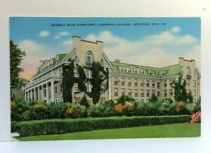 Appleton Wisconsin Russell Sage Dormitory Lawrence College Vintage Postcard
