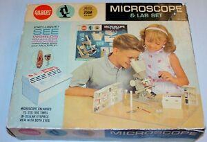Vintage A.C. Gilbert No.13105 Microscope & Lab Kit in Original Box !