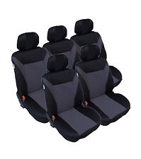 5x Graue Sitzbezug Sitzbezüge Schonbezüge für VW Sharan Touran Ford C-MAX B-MAX