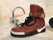 RARE AUTH Givenchy Sneakers Tyson Leather High Top EU 42 US 9 Orange Basketball