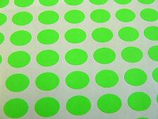144 Bright Green, Paper Mini Stickers, 16x12mm oval, Labels Plain, Blank, BLC540
