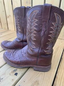 Lucchese Ostrich Boots - Men's Size 11 - Used