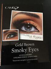 Cameo Gold Brown Smoky Eyes - 4 Eyeshadows , Eyeliner Pencil, Mascara