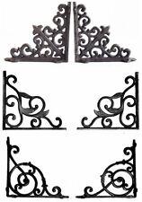 Pair Of Cast Iron Wall Brackets Shelf Vintage Victorian Antique Ornate Shelving