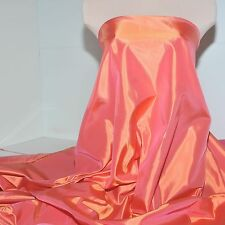 """SATIN BACK IRIDESCENT TAFFETA SOUTH BEACH CORAL 60"""" BRIDAL GOWN , SUITS JACKETS"""