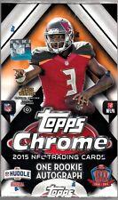 2015 Topps Chrome Football Factory Sealed 12 Box Hobby Case - 12 Rookie Autos