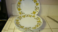 "4  Noritake Margurite Dinner Plates 10.5"" 6730 Cook'n Serve Japan Daisy"