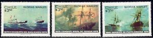 1979 Chile SC# 537-539 - Centenary of Victorious Naval Battle Against Peru - M-H