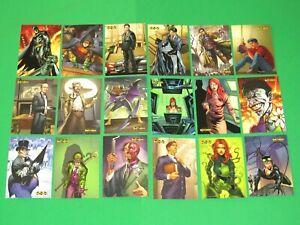 2012 BATMAN THE LEGEND CRYPTOZOIC COMPLETE BASE 63 CARD SET DC UNIVERSE!