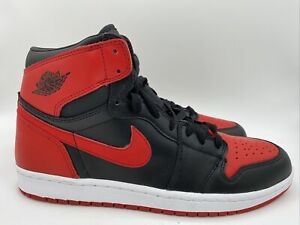 Nike Air Jordan 1 (I) Retro Bred 2001 Black/Varsity Red Sz 11 Banned 136066-061