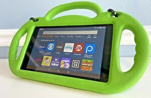 Amazon Fire HD 8 7th Generation,16GB w/ Kids Shockproof Handle Stand Case bundle