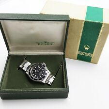 Rolex Red Submariner Steel Black Watch 1680 Year 1971 Original Box Vintage