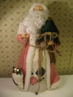 "Christmas Folk Art Santa Claus Figure ~ 20"" tall x 9"" base ~ Holiday Workshop"