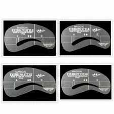 Free Shipping 4pcs Magic Eyebrow Grooming Shape Card Stencil Kit Make-Up Tool