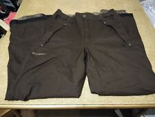 Columbia Brown Omni-Tech Boundary Run Insulated Snowboard/Ski Pants Men's size S