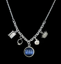 Once Upon A Time Themed Statement Charm Necklace Necklace silver tone