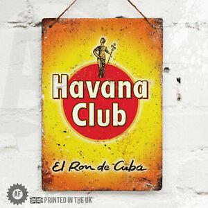 HAVANA CLUB Metal Wall Sign Pub Bar Kitchen Home Mancave Rum Cocktail Cuba Party