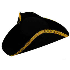 TRICORN HAT VICTORIAN STAG PARTY CARIBBEAN PIRATE ADULTS KIDS TURPIN FANCY DRESS