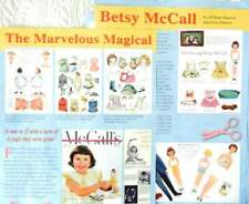 20p History Article & Paper Doll - VTG  & New Betsy McCall Dolls Paper Dolls